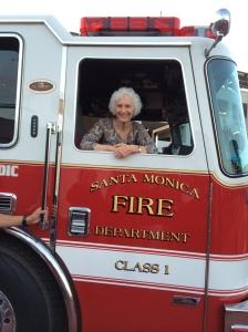 LG in Fire  Truck     6-28-14