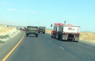 Tomato Truck w Army Convoy