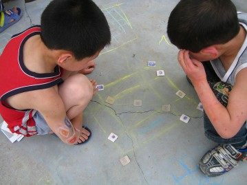 Children playing game