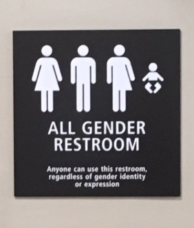 All Gender Bathroom sign