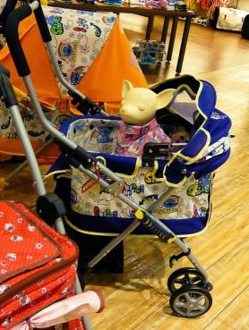 Toy Dog in Stroller