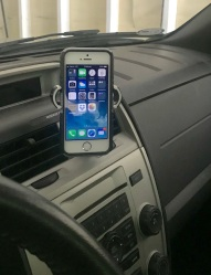 Cell Phone in Dash Holder