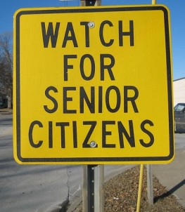 senior citizen sign